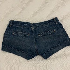 American Eagle dark wash shorts
